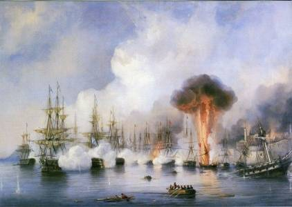 1 декабря 1853 года - разгром турецкого флота у мыса Синоп