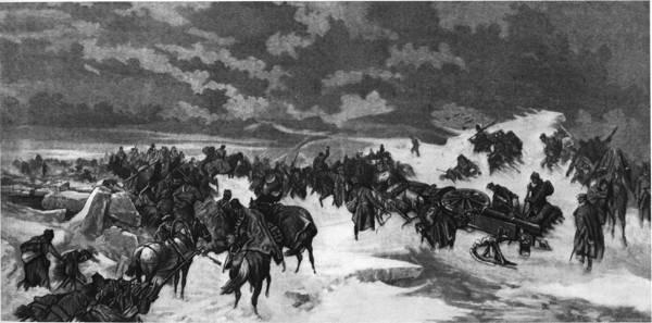 18-21 марта - героический переход русских войск по льду Ботнического залива